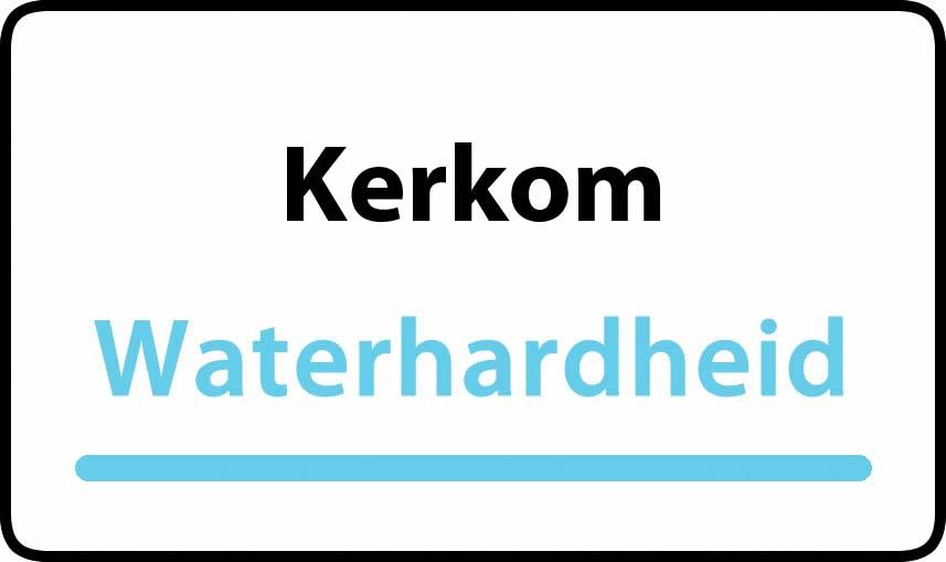 waterhardheid in Kerkom is hard water 40 °F Franse graden
