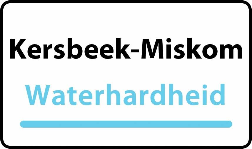 waterhardheid in Kersbeek-Miskom is middel hard water 21 °F Franse graden