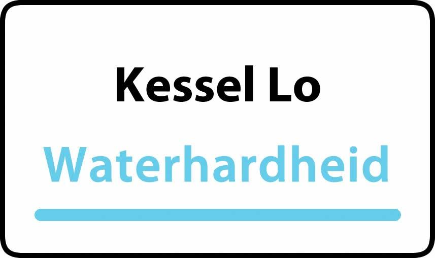 waterhardheid in Kessel Lo is hard water 34 °F Franse graden
