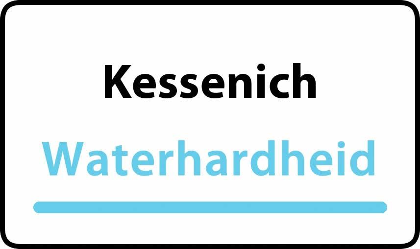 waterhardheid in Kessenich is middel hard water 15 °F Franse graden