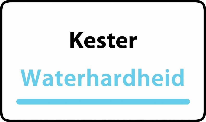 waterhardheid in Kester is hard water 42 °F Franse graden