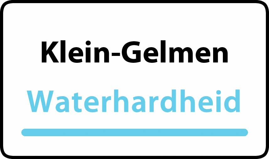 waterhardheid in Klein-Gelmen is hard water 37 °F Franse graden