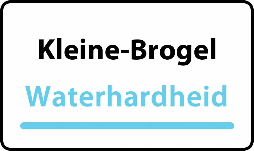 waterhardheid in Kleine-Brogel is middel hard water 15 °F Franse graden