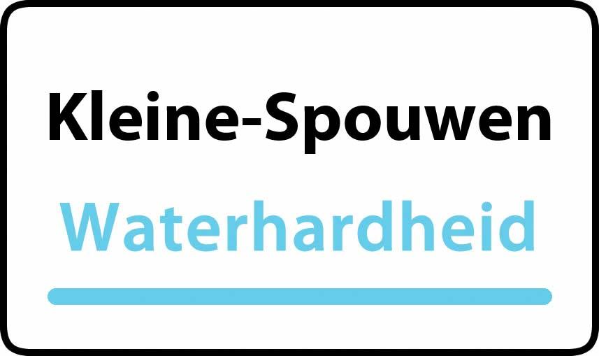 waterhardheid in Kleine-Spouwen is hard water 35 °F Franse graden