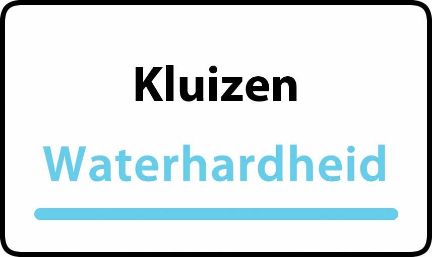 waterhardheid in Kluizen is hard water 34 °F Franse graden