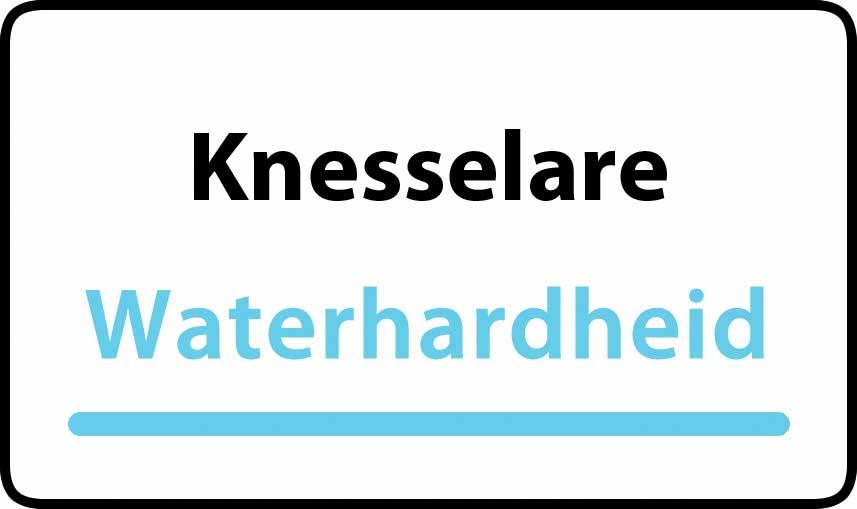 waterhardheid in Knesselare is hard water 39 °F Franse graden