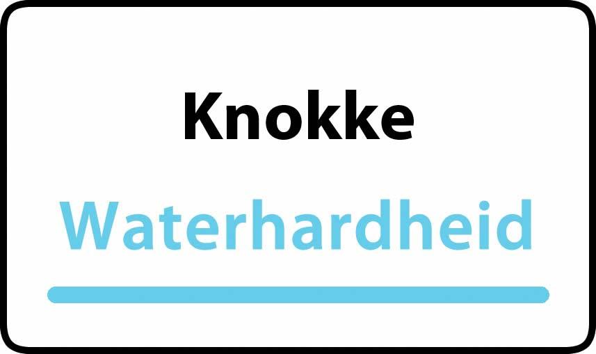 waterhardheid in Knokke is middel hard water 28 °F Franse graden