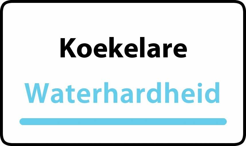 waterhardheid in Koekelare is hard water 32 °F Franse graden