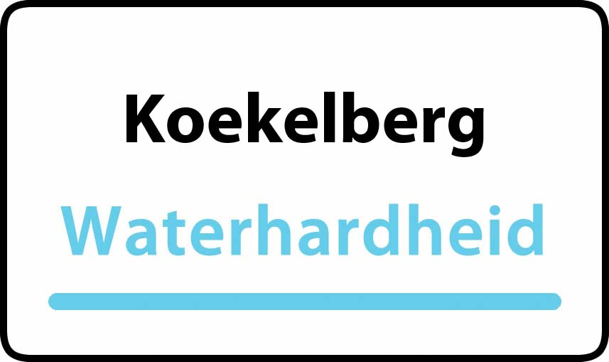 waterhardheid in Koekelberg is hard water 39 °F Franse graden