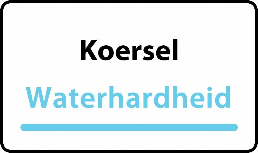waterhardheid in Koersel is middel hard water 16 °F Franse graden
