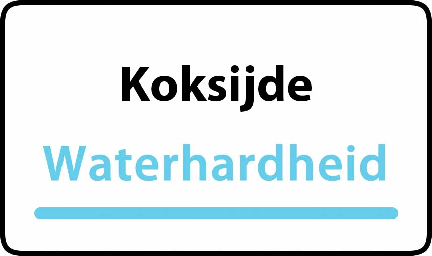 waterhardheid in Koksijde is middel hard water 25 °F Franse graden