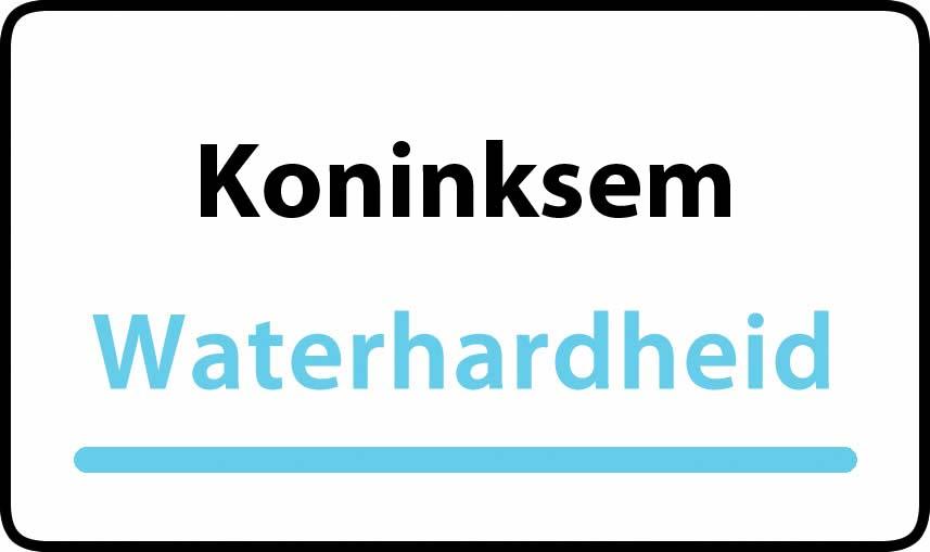 waterhardheid in Koninksem is hard water 37 °F Franse graden