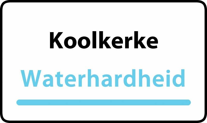 waterhardheid in Koolkerke is hard water 32 °F Franse graden