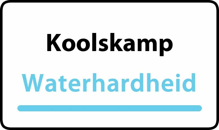 waterhardheid in Koolskamp is hard water 32 °F Franse graden