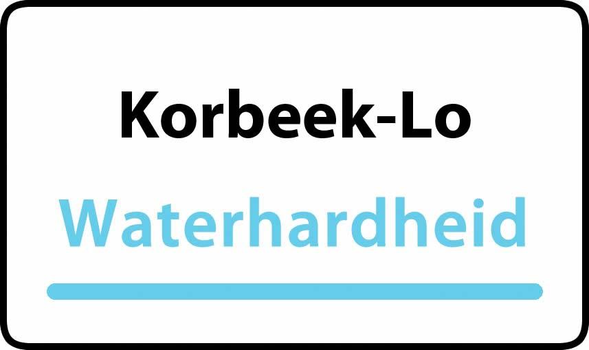 waterhardheid in Korbeek-Lo is hard water 34 °F Franse graden