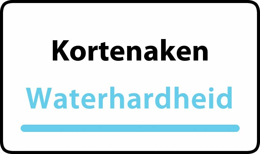 waterhardheid in Kortenaken is middel hard water 21 °F Franse graden