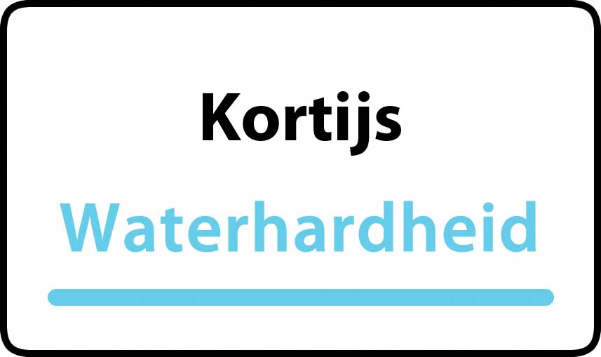 waterhardheid in Kortijs is middel hard water 18 °F Franse graden