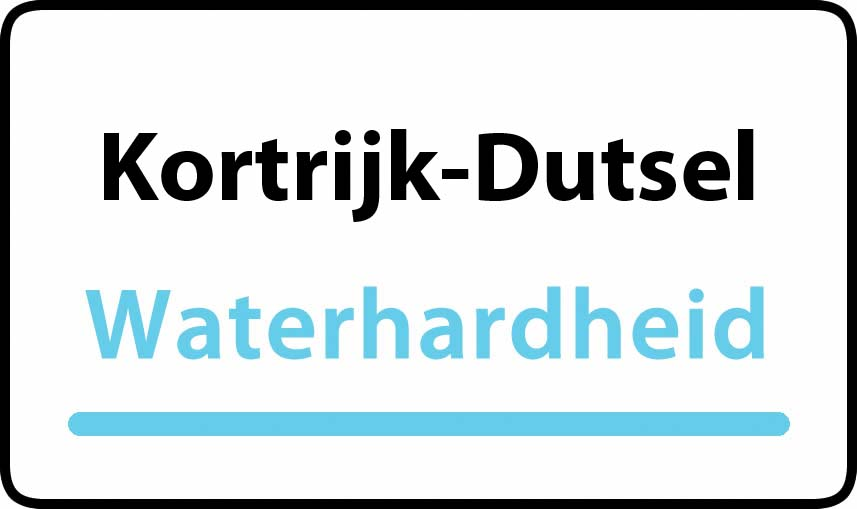 waterhardheid in Kortrijk-Dutsel is hard water 37 °F Franse graden