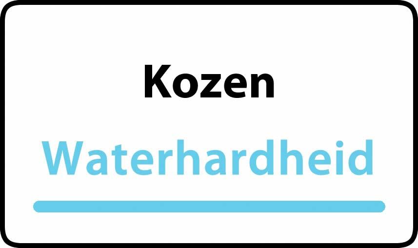 waterhardheid in Kozen is hard water 38 °F Franse graden
