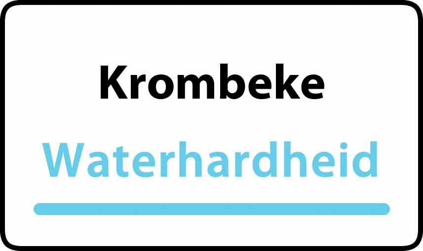 waterhardheid in Krombeke is hard water 44 °F Franse graden
