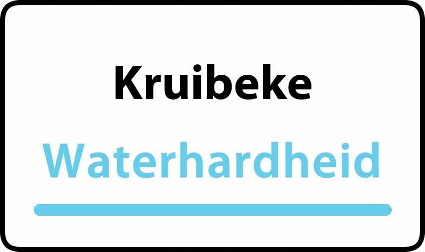 waterhardheid in Kruibeke is middel hard water 26 °F Franse graden