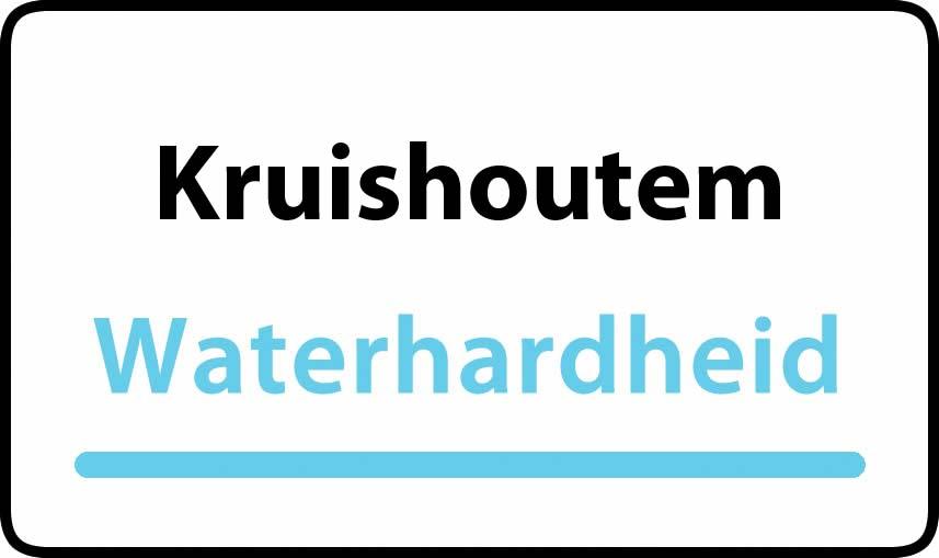 waterhardheid in Kruishoutem is hard water 39 °F Franse graden