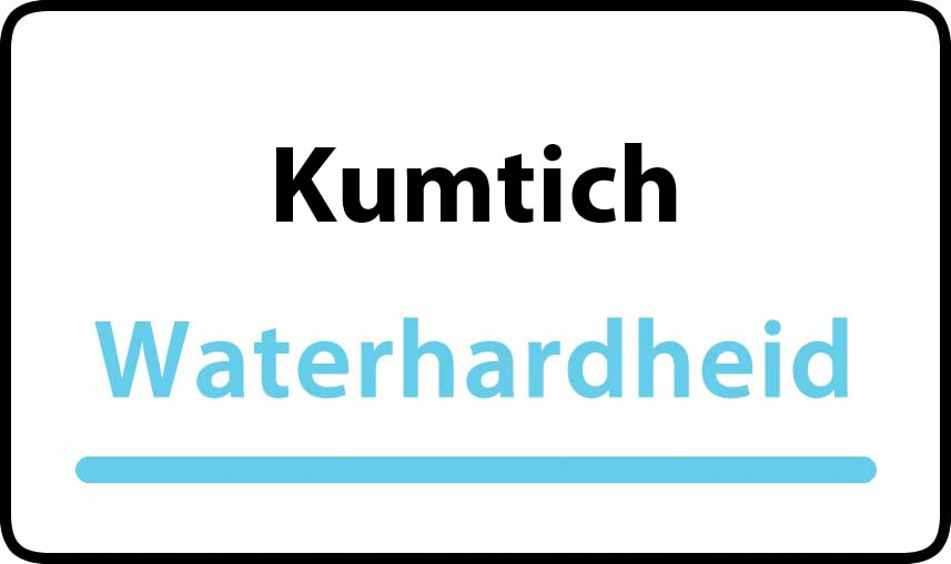 waterhardheid in Kumtich is hard water 39 °F Franse graden
