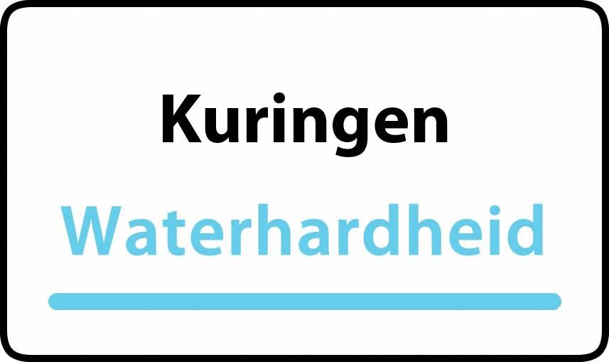 waterhardheid in Kuringen is middel hard water 22 °F Franse graden