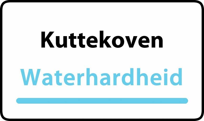 waterhardheid in Kuttekoven is hard water 37 °F Franse graden