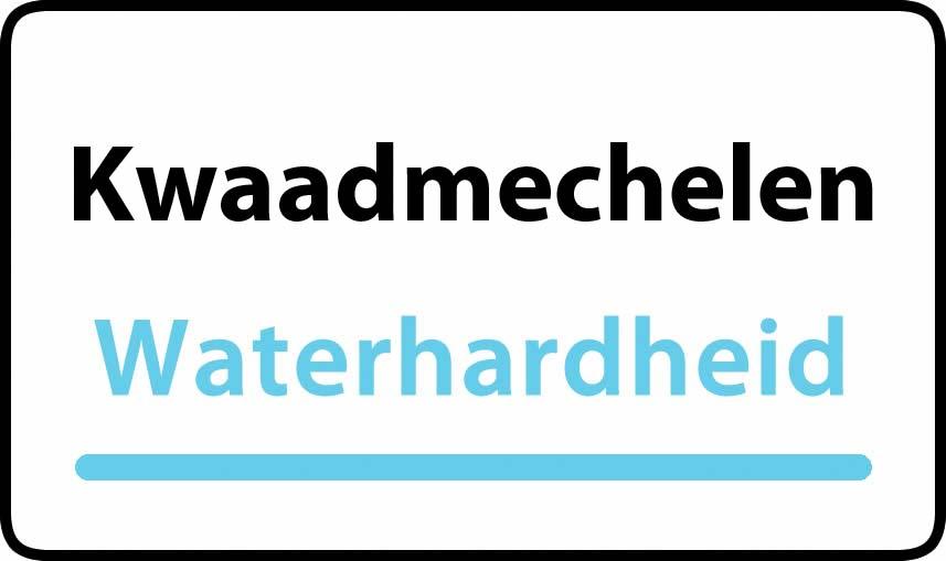 waterhardheid in Kwaadmechelen is middel hard water 15 °F Franse graden