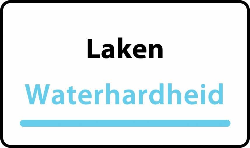 waterhardheid in Laken is hard water 36 °F Franse graden