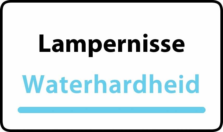 waterhardheid in Lampernisse is middel hard water 27 °F Franse graden