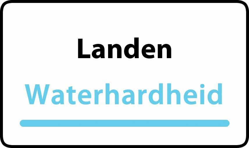 waterhardheid in Landen is middel hard water 21 °F Franse graden