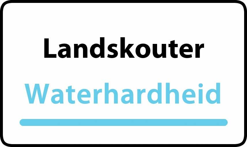 waterhardheid in Landskouter is middel hard water 23 °F Franse graden