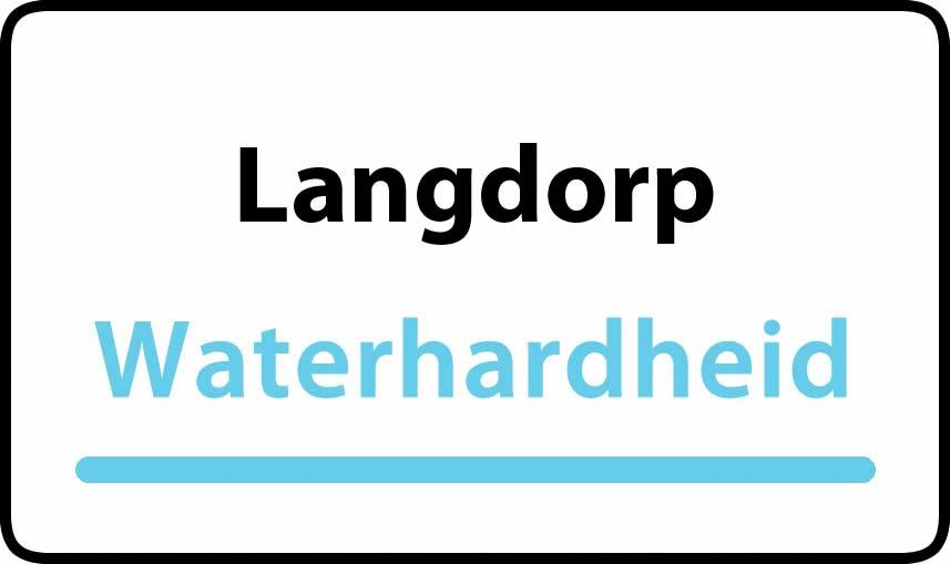 waterhardheid in Langdorp is middel hard water 18 °F Franse graden