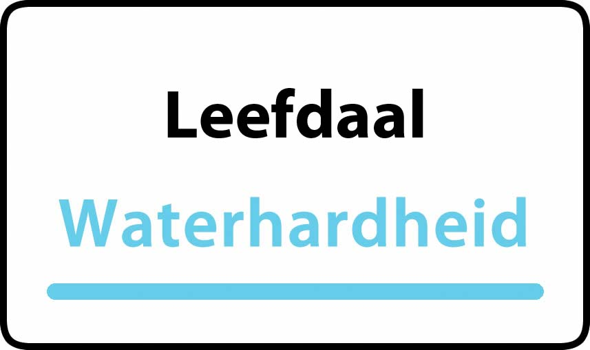 waterhardheid in Leefdaal is zeer hard water 45 °F Franse graden