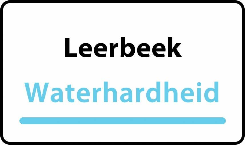 waterhardheid in Leerbeek is hard water 42 °F Franse graden