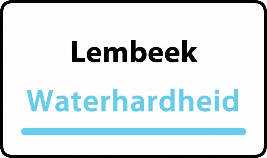waterhardheid in Lembeek is hard water 41 °F Franse graden