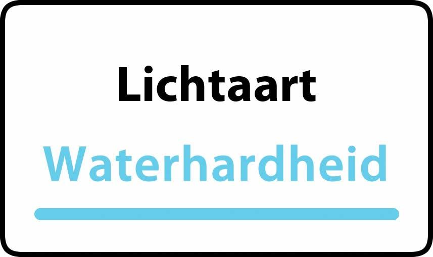 waterhardheid in Lichtaart is middel hard water 16 °F Franse graden