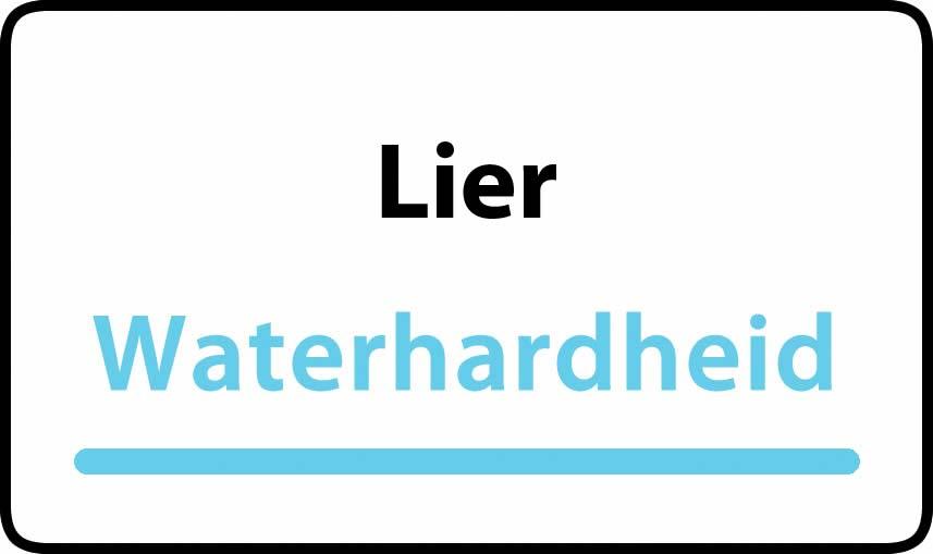 waterhardheid in Lier is middel hard water 18 °F Franse graden