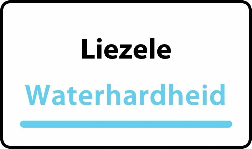 waterhardheid in Liezele is middel hard water 18 °F Franse graden