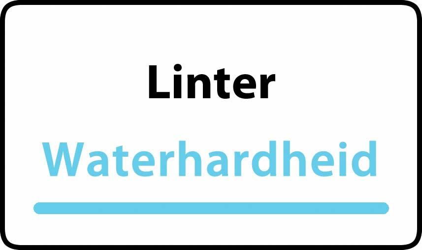 waterhardheid in Linter is middel hard water 21 °F Franse graden