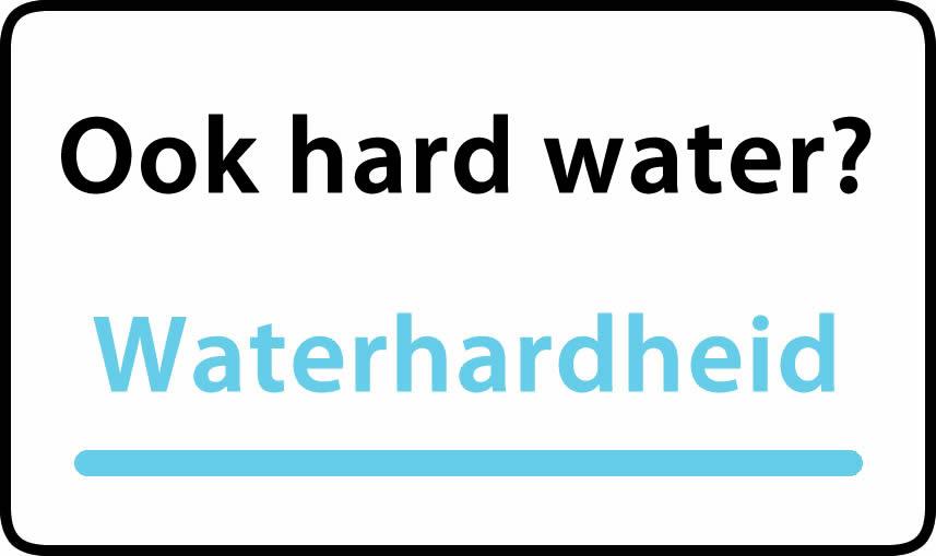 waterhardheid in Locc is typy water grady °F Franse graden