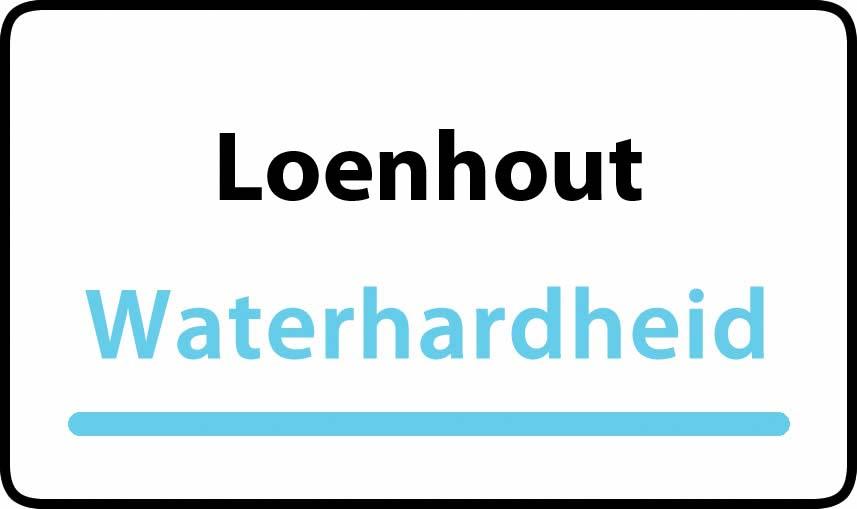 waterhardheid in Loenhout is middel hard water 18 °F Franse graden