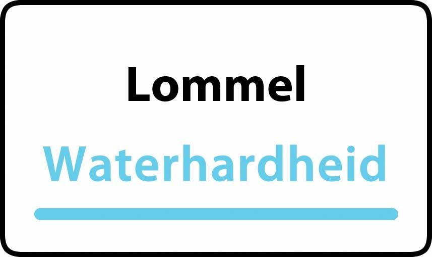 waterhardheid in Lommel is middel hard water 15 °F Franse graden