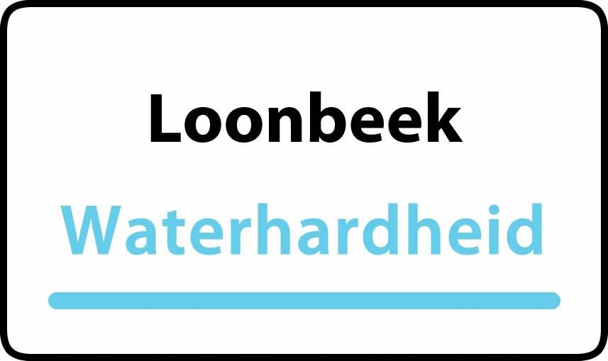 waterhardheid in Loonbeek is hard water 38 °F Franse graden