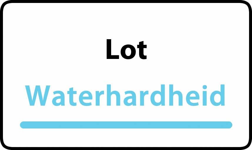waterhardheid in Lot is hard water 38 °F Franse graden