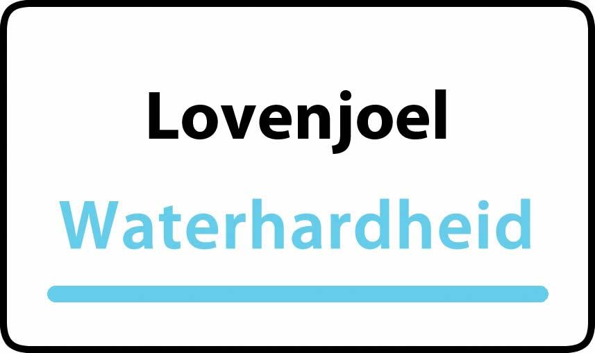 waterhardheid in Lovenjoel is hard water 34 °F Franse graden