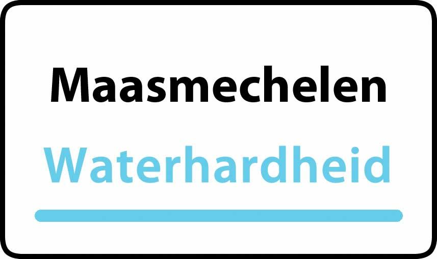 waterhardheid in Maasmechelen is middel hard water 22 °F Franse graden