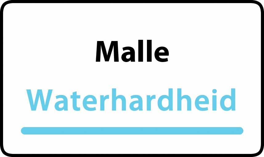 waterhardheid in Malle is middel hard water 18 °F Franse graden